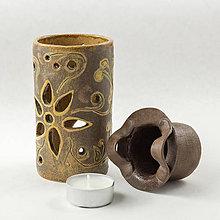 Svietidlá a sviečky - Aromalampa slnečnokvietková - rozmer 14 x 7 cm - 10552181_
