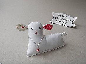 Papiernictvo - Ovečka - textilná magnetka - 10550205_