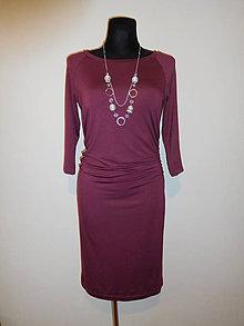 Šaty - Malinové s řasením - 10550916_