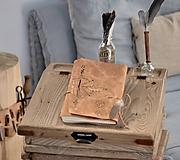Papiernictvo - kožený cestovateľský denník STOPY VEDÚ ZA DOBRODRUŽSTVOM - 10549199_