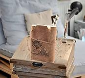 Papiernictvo - kožený cestovateľský denník HARLEY - 10549205_