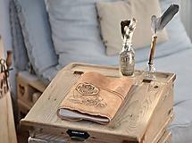 Papiernictvo - kožený cestovateľský denník HARLEY - 10549207_