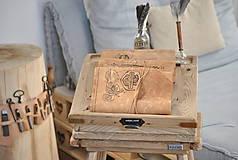 Papiernictvo - kožený cestovateľský denník HARLEY - 10549208_