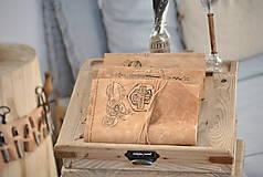 Papiernictvo - kožený cestovateľský denník HARLEY - 10549209_