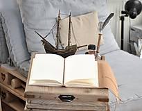 Papiernictvo - kožený cestovateľský denník HARLEY - 10549210_