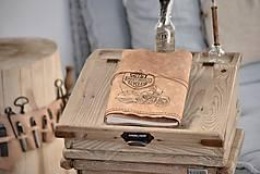Papiernictvo - kožený cestovateľský denník HARLEY - 10549211_