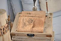 Papiernictvo - kožený cestovateľský denník HARLEY - 10549212_