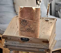 Papiernictvo - kožený cestovateľský denník HARLEY - 10549204_
