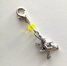 Kľúčenky - Prívesok s kominárom (žltá) - 10552766_
