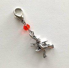 Kľúčenky - Prívesok s kominárom (oranžová) - 10552768_
