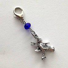 Kľúčenky - Prívesok s kominárom (modrá tmavá) - 10552775_