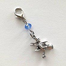 Kľúčenky - Prívesok s kominárom (modrá svetlá) - 10552777_