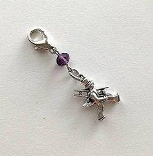 Kľúčenky - Prívesok s kominárom (fialová tmavá) - 10552791_