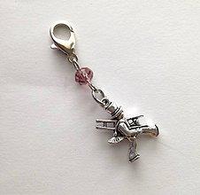 Kľúčenky - Prívesok s kominárom (fialová) - 10552792_