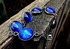 Náramky - Náramok (CHO) s modrými kamienkami  - 10552000_