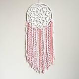 Dekorácie - Veľký lapač snov Ružový Sen - 10550501_