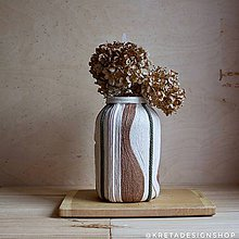 "Dekorácie - ""Robusta"" zerowaste recyklovaná vaza - 10552605_"