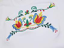 Tričká - Vyšívané dámske tričko s folklórnym motívom, krátky rukáv - 10550835_