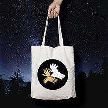 Nákupné tašky - Tieňohra - jeleň (bavlnená taška) - 10549949_