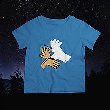 Detské oblečenie - Tieňohra - jeleň (svietiace detské tričko) - 10549993_