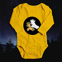 Detské oblečenie - Tieňohra - jeleň (svietiace detské body) - 10550067_