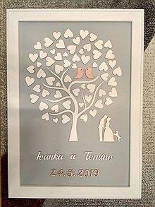 Dekorácie - Svadobná kniha hostí / svadobný strom - 10552823_