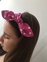 Ozdoby do vlasov - čelenka ružová-malinová bodka veľká - 10549281_
