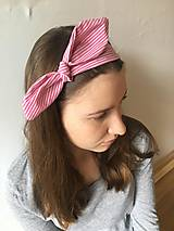 Ozdoby do vlasov - čelenka ružový pásik - 10549290_