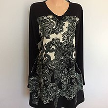 Šaty - Tuniko~šaty ,, paisley 54-56 - 10552750_
