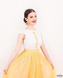 Šaty - Slnečná kráľovná... - 10551321_