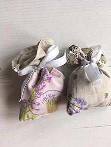 Dekorácie - levanduľové vrecúška (Béžová) - 10550633_