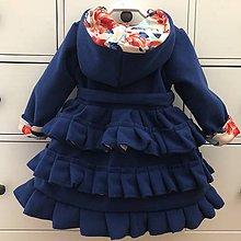 Detské oblečenie - Flaušový - flísový kabátik samý volánik - 10549725_