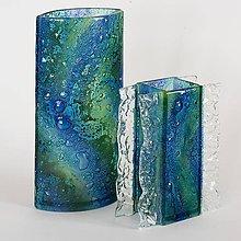 Dekorácie - Skleněná váza MADEIRA velká - 10551577_
