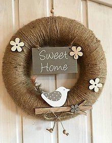 Dekorácie - Venček na dvere- Sweet Home - 10549867_
