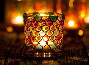 Svietidlá a sviečky - Svietnik - Šupiny - 10549288_
