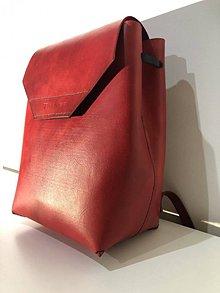 Batohy - Kožený ruksak - 10551958_