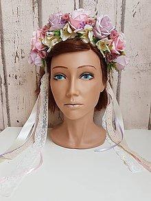 Ozdoby do vlasov - Svadobná parta pre nevestu - 10552588_