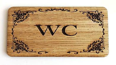 Dekorácie - Tabuľka- na dvere do WC - 10552865_