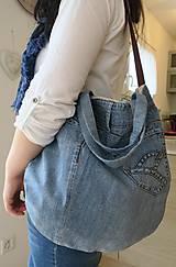 Veľké tašky - riflova taska - 10549382_