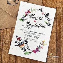 Papiernictvo - Svadobné oznámenie ~Bird~ - 10550688_