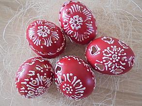 Dekorácie - Červené veľkonočné krasličky (Červená) - 10551945_