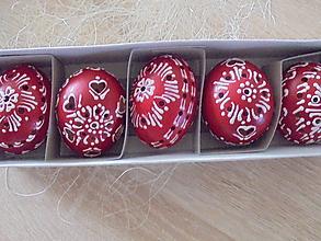 Dekorácie - Červené veľkonočné krasličky (Červená) - 10551949_
