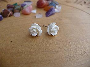 Náušnice - ruže mini napichovačky-oceľ - 10549231_
