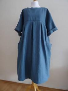 Tuniky - Ľanové šaty - 10551140_