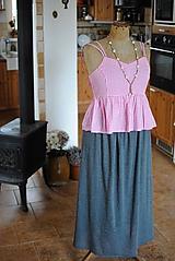 Úpletová maxi sukňa