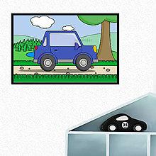 Grafika - Auto - digitálna grafika do detskej izbičky (s okrajmi) - 10551982_