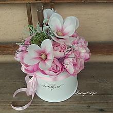 Dekorácie - flower box ..magnólia - 10549345_