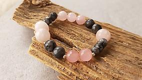 Náramky - Náramok ruženín a larvikit - 10553057_
