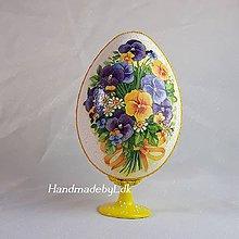 Dekorácie - Vajíčko so stojanom - Sirôtky žlté - 10553840_