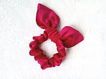Ozdoby do vlasov - Zamatová gumička do vlasov (červená) - 10555915_